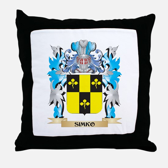 Simko Coat of Arms - Family Crest Throw Pillow