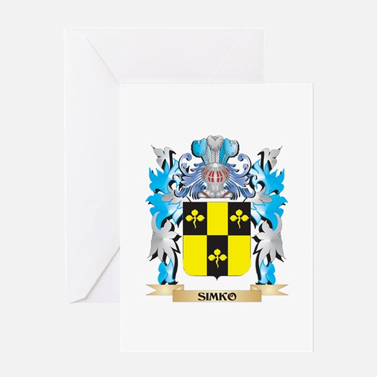 Simko Coat of Arms - Family Crest Greeting Cards