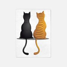 cat buddies 5'x7'Area Rug