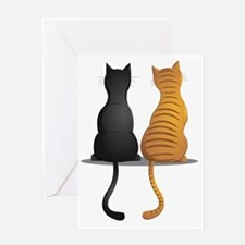 cat buddies Greeting Card
