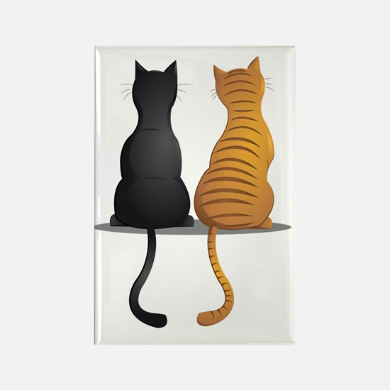 cat buddies Rectangle Magnet