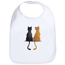 cat buddies Bib