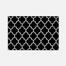 BLACK AND WHITE Moroccan Quatrefoil Magnets