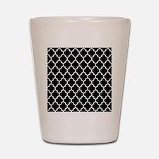 BLACK AND WHITE Moroccan Quatrefoil Shot Glass