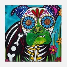 Cute Day of the dead skeleton Tile Coaster
