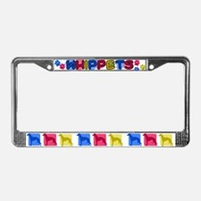 Color Row Whippet License Plate Frame