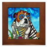 Day of the dead dog Framed Tiles