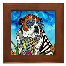 Unique Bulldogs Framed Tile