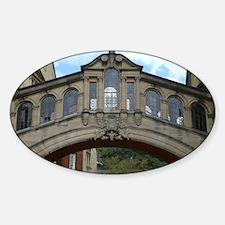 Bridge of Sighs Oxford Sticker (Oval)