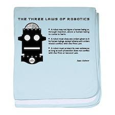 Three Laws of Robotics baby blanket