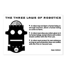 Three Laws of Robotics Postcards (Package of 8)