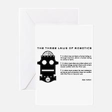 Three Laws of Robotics Greeting Cards