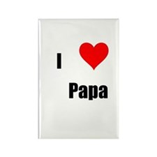 i love papa Rectangle Magnet