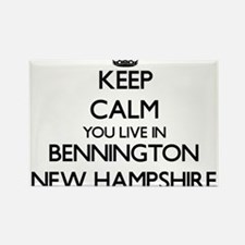 Keep calm you live in Bennington New Hamps Magnets