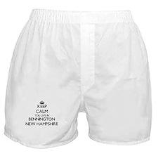 Keep calm you live in Bennington New Boxer Shorts