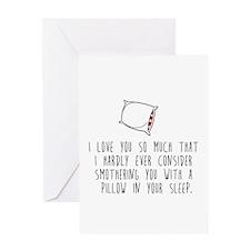 Pillow Talk Greeting Cards