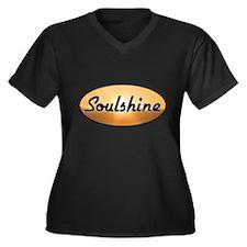 Soulshine Women's Plus Size V-Neck Dark T-Shirt