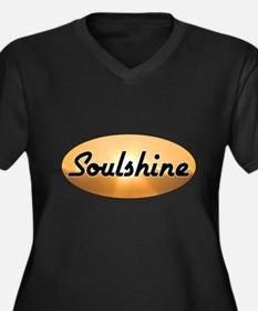 Soulshine Women's Plus Size V-Neck Dark T-Shirt