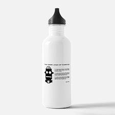 Three Laws of Robotics Water Bottle