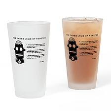 Three Laws of Robotics Drinking Glass