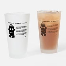 Three Laws of Robotics Drinking Glass