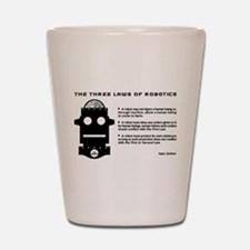 Three Laws of Robotics Shot Glass