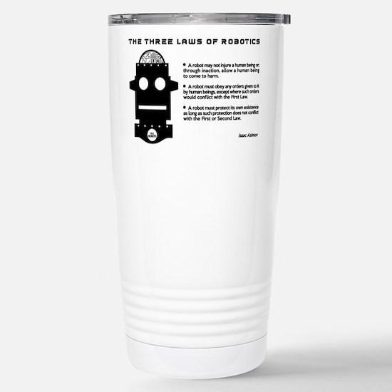 Three Laws of Robotics Stainless Steel Travel Mug