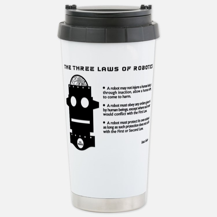 Three Laws of Robotics Travel Mug