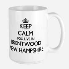 Keep calm you live in Brentwood New Hampshire Mugs
