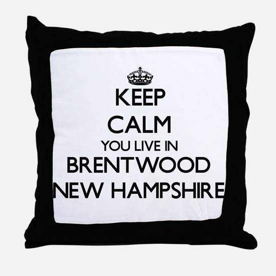 Keep calm you live in Brentwood New H Throw Pillow