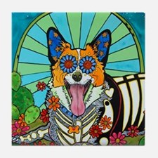 Cute Animal corgi Tile Coaster