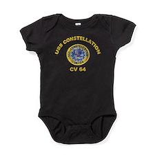 USS Constellation CV-64 Baby Bodysuit