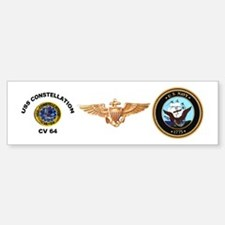 USS Constellation CV-64 Bumper Bumper Sticker
