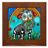 Day of the dead framed dog tiles Framed Tiles