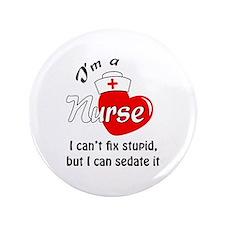 """IM A NURSE 3.5"""" Button"""
