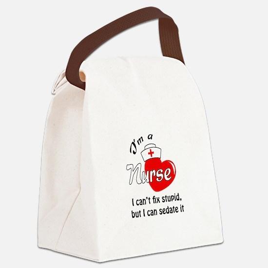 IM A NURSE Canvas Lunch Bag