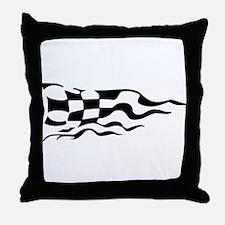 RACING FLAG Throw Pillow