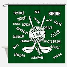 Cute Golf Shower Curtain