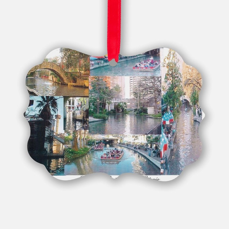 San Antonio Riverwalk-jk Ornament