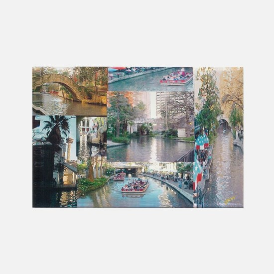 San Antonio Riverwalk-jk Rectangle Magnet
