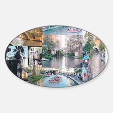 San Antonio Riverwalk-jk Sticker (Oval)
