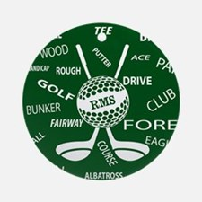 Personalized Monogram Golf Gifts Ornament (Round)