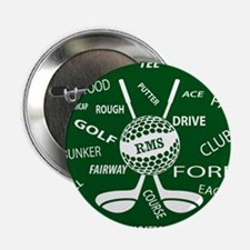 """Personalized Monogram Golf Gifts 2.25"""" Button"""