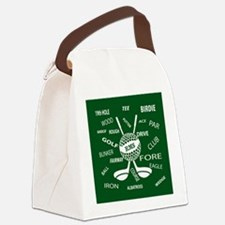 Personalized Monogram Golf Gifts Canvas Lunch Bag
