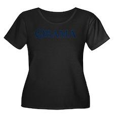 Obama Women's Scoop Neck Dark Plus Size T-Shir
