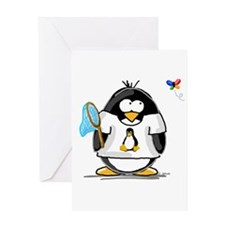 linux vs windows Penguin Greeting Card