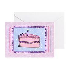 Princess Pink Cake Birthday Card