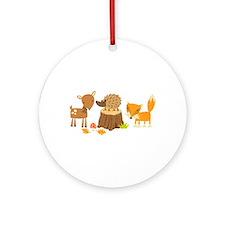 Woodland Animals Ornament (Round)