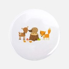 "Woodland Animals 3.5"" Button"