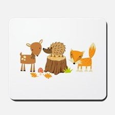 Woodland Animals Mousepad